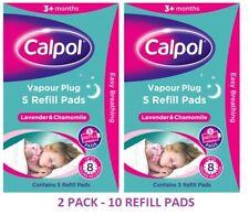 Calpol Vapour Plug REFILLS - Lavender & Chamomile - 2 PACK OFFER - 10 REFIL PADS