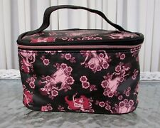 Disney Loungefly Floral Princesses Travel Train Case Makeup Cosmetic Bag NWT