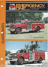 Fire Equipment Brochure - E-One - Guardsman - Parker City VFD et al (DB220)
