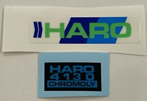 Old school BMX freestyle '85 '86 White Haro MASTER handle bar stickers decals
