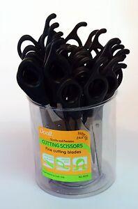 "Annie 6.5"" Hair Scissors Shears Stainless Steel Black, 24pcs / Jar"