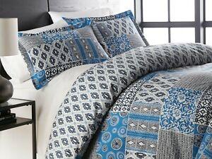 Premium Quality Oversized Global Patch Reversible Comforter Set