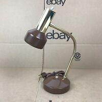 Antique UNDERWRITERS LABORATORIES Metal Bronze Finish Portable Desk Lamp 8.C7