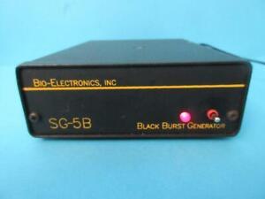 BIO-ELECTRONICS INC SG-5B BLACK BURST GENERATOR SYNC OUTPUTS USED WORKS GREAT