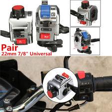 "Pair Multifunction Motorcycle 7/8"" Universal Handlebar Horn Light Control Switch"