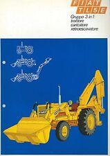 Brochure FIAT TL5E 3 in 1: Trattore Caricatore Retro escavatore anni 70  Benfra