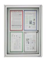 Schaukasten CC  - Alu Infokasten für Außen, 4 x DIN A4, magnetische Rückwand