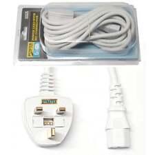 5 M Long IEC Bouilloire plomb câble d'alimentation 3 broches UK Plug Câble Moniteur PC TV C13 Cordon