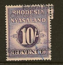 RHODESIA & Nyasaland: 1956 10 / - Violetto ricavi-Barefoot 6 USATO