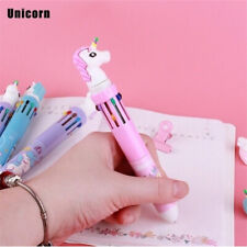 10 Colors Unicorn Cartoon Changing Ballpoint Ball Pen Chunky For Kids Gift