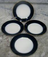 4 PL LIMOGES - France -  M. Redon Limoges - Cobalt Blue Gold Trim Dining Plates