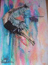 Lora Zombie SIGNED Print Flying Man (+banksy dface eelus dran faile obey photos)