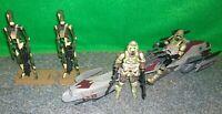 Star Wars ROTS Kashyyyk Conquest Battle Droid + BARC Speeder + Clone Trooper LOT