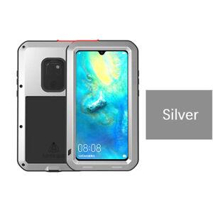 LOVEMEI Gorilla Glass Aluminum Metal Case Cover For Huawei Mate 20 Pro 10 Lite