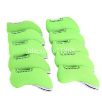 10PCS Green Neoprene Golf Iron Cover Headcovers For Mizuno Jpx 850,MX 300,MP64