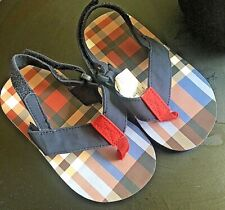 GYMBOREE FLIP FLOPS PLAID Toddler Little Kids Size US 5/6