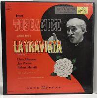 """Arturo Toscanini Conducts Verdi's """"LA TRAVIATA"""" Record Box Set Of 2 LP Dec 1946"""