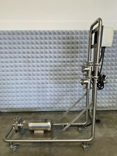 Fristam Fpr742 Centrifugal Pump On Stainless Steel Rolling Cart With Controller
