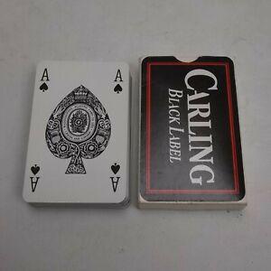 Carling Black Label Lager Playing Cards Vintage Full Deck Set Boxed Free UK P+P