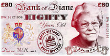 Personalised 80th Birthday GIANT BANKNOTE - Present - Keepsake - Gift - Banner