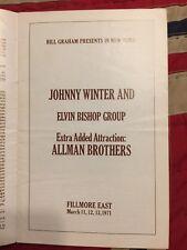 Johnny Winter and Elvin Bishop w Allman Bros. 1971 Filmore East