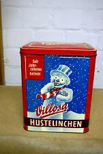 Blechdose Villosa Hustelinchen Groß und Rot Sammler Reklame Bonbons Höhe 28 cm