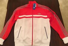 Mens Adidas-ICON Jacket Size L white/ Hire Red/grey