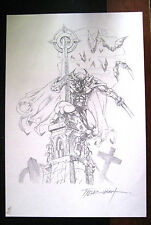 SALE Tim Tyler Vigil Original Art for Faust Print #6 Raw Comics Faust