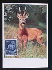 AUSTRIA MK 1959 1063 JAGDWILD HIRSCH DEER MAXIMUMKARTE MAXIMUM CARD MC CM c6502
