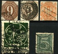 GERMAN States PRUSSIA THURN AND TAXIS WURTTEMBERG Stamps Postage Collection