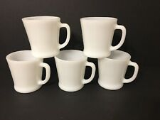 Anchor Hocking Fire King coffee mugs D Handle Mint Condition Milk Glass Mugmania