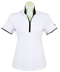 Women's White Polo Short Sleeve Golf T-Shirt SLIM FIT