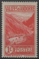 """FRENCH ANDORRA STAMP YVERT 74 """" LANDSCAPE SAINT JULIA 1F RED """" MNH VVF K649"""