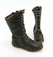 Stiefel Aces of London Reißverschluss Echtleder moosgrün Gr.36