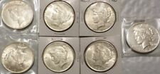 Lot of 7 (6)UNC (1)AU 1922-1923 Peace Dollars, Uncirculated & Almost UNC Silver