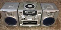 Aiwa CA-DW235U AM FM Stereo Dual Cassette CD Boombox High Speed Dubbing Radio