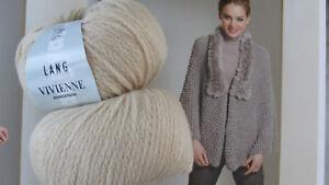 700 g Vivienne Lang Yarns Wolle Lana Merino Fb 22 Sand Beige extra weich Baby