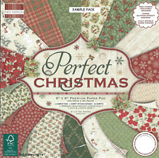 DOVECRAFT PERFECT CHRISTMAS PAPER 8 X 8 SAMPLE PACK - 16 SHEETS - POSTAGE DEAL