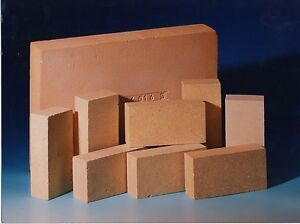 PIZZA OVEN BRICKS KILN STOVE BRICKS (61080) 230x114x38mm fire brick