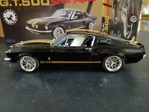 ACME 1967 Ford Mustang Shelby GT500 BLACK Street Fighter 1:18 A1801837. NEW!!