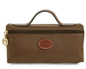 Longchamp Le Pliage Cosmetic Case bag Nylon pouch ~NIP~ Khaki