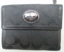 -AUTHENTIQUE portefeuille COACH  cuir & toile  TBEG vintage