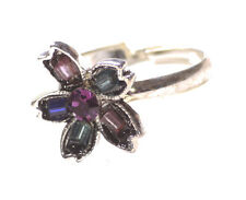 Size Fits All Chrome Hand Ring(Zx254) Delightful & Gorgeous Multi Colour Gem/One