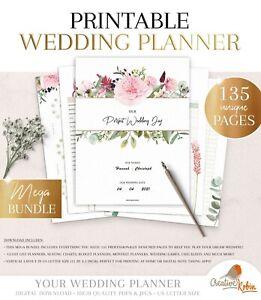 PRINTABLE Wedding Planner & Wedding Organizer | Maid of Honor Planner | 135 Page