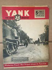 Yank Army Weekly Magazine G.I. WW2 Rommel , Hedy Lamarr pin-up 1943