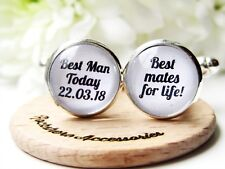 Best Man Today Best Mates For Life Cufflinks Personalised Wedding Gift In Box