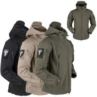 Men Army Hoody Jacket Tactical Military V4 Jacket Waterproof Softshell Jackets
