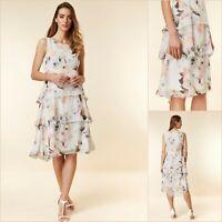 Wallis Dress Size 14 | Blush Floral Layered Style | BNWT | £55 RRP | Brand New!