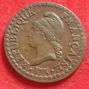 Un centime Dupré AN 6 (petit) 53/50