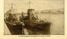 Oesterreich-ungarische Patrouillenboote im Hafen von Odessa 1918